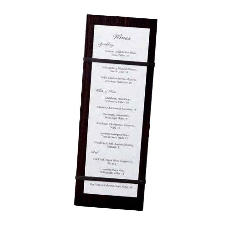 """American Metalcraft CBRB12 Menu Board - 4-1/2x12-1/2"""" Espresso"""