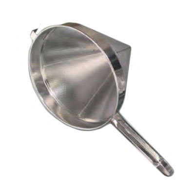 "American Metalcraft CC12F 12"" China Cap Strainer w/ 1.06"" Perforation & Welded Handle, Stainless"