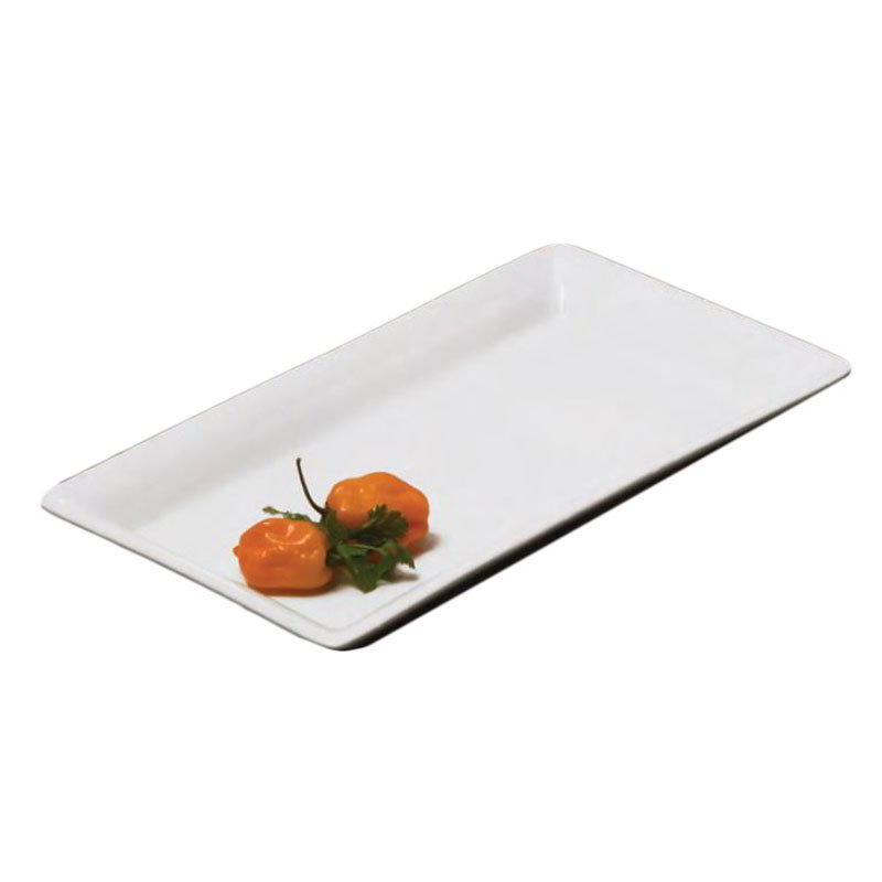 American Metalcraft CER19 Rectangular Platter, 14.25x7.5-in, Ceramic/White