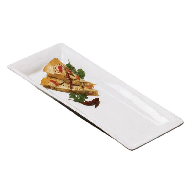 American Metalcraft CER23 Rectangular Platter, 18x8.75-in, Ceramic/White