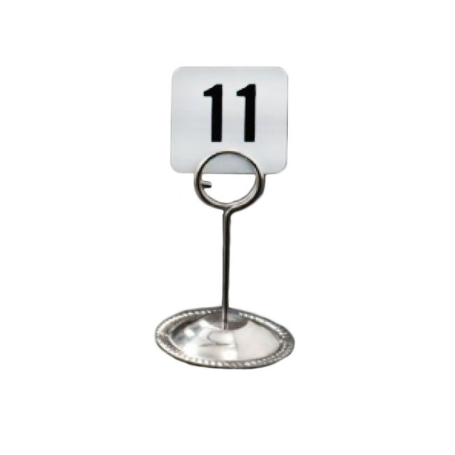 "American Metalcraft CH4 4"" Number Card Holder - Stainless"