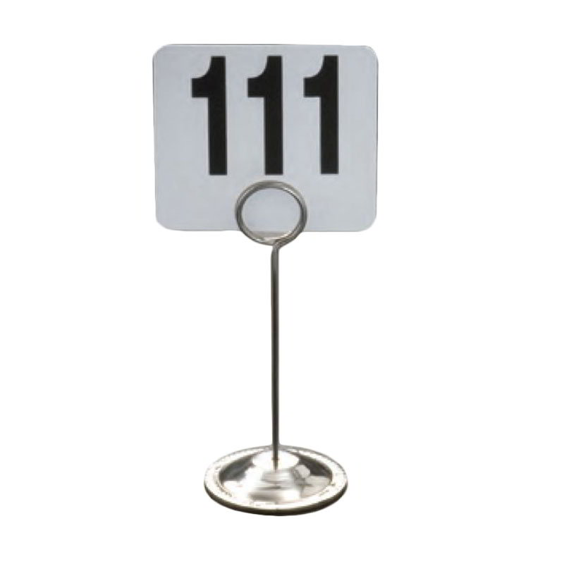 "American Metalcraft CH6 6"" Number Card Holder - Stainless"