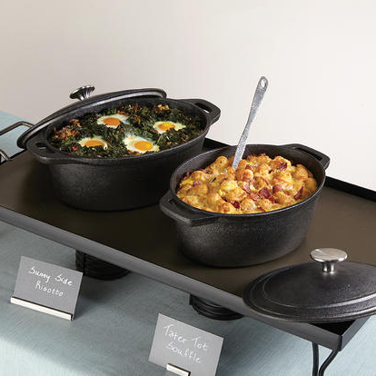American Metalcraft CIPO3 3-qt Oval Casserole Dish with Lid - Cast Iron