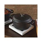 American Metalcraft CIPR3 3-qt Round Casserole Dish with Lid - Cast Iron