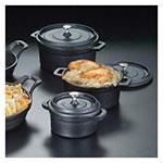 "American Metalcraft CIPR42 4"" Round Baking Dish w/ 8.3-oz Capacity, Cast Iron"