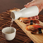 American Metalcraft CM5 4-1/2-oz Bottle/Creamer - White Ceramic