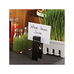 "American Metalcraft CPCHB Tabletop Menu Card Holder - 1.5"" x 3.25"", Wood, Black"