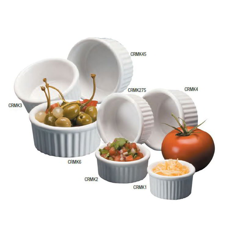 American Metalcraft CRMK2 Fluted Ramekin w/ 2-oz Capacity, Ceramic/White