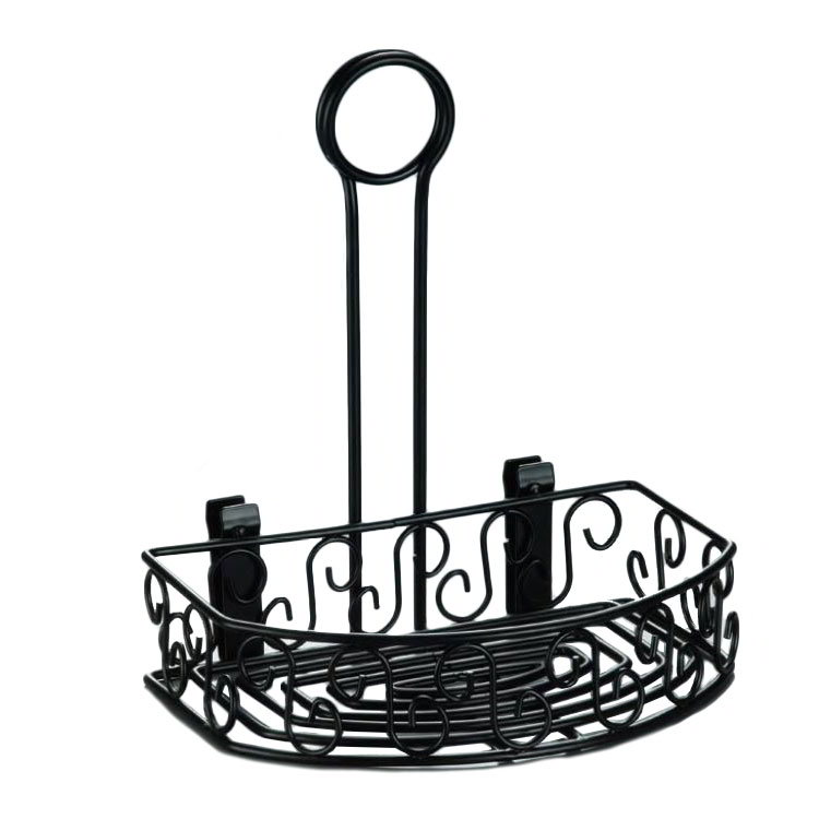 american metalcraft crs68 semi round condiment caddy w scroll design wrought ironblack - Condiment Caddy