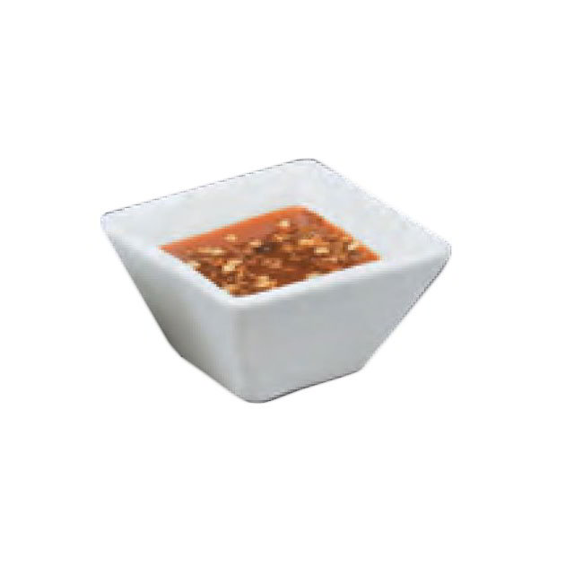 American Metalcraft CSC20 Square Sauce Cup w/ 2-oz Capacity, Porcelain