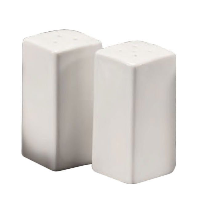 American Metalcraft CSPS3 Square Salt & Pepper Shaker Set, Ceramic