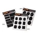 American Metalcraft CSR18 Chalk Sticker Labels - Rectangular-Shaped, Black Vinyl