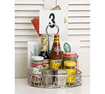 American Metalcraft CSS6 Condiment Caddy, 6-1/4 x 8-1/4 x 9 H Semi Round, W/ Handle, Stainless Steel