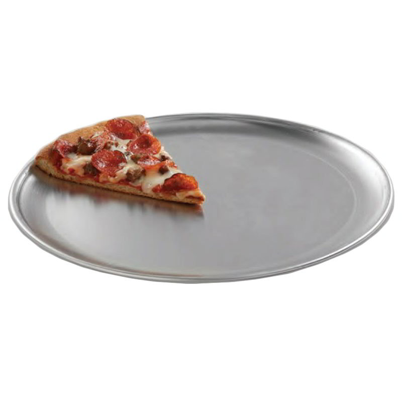 "American Metalcraft CTP10 10"" Solid Pizza Pan, Coupe Style, Aluminum"