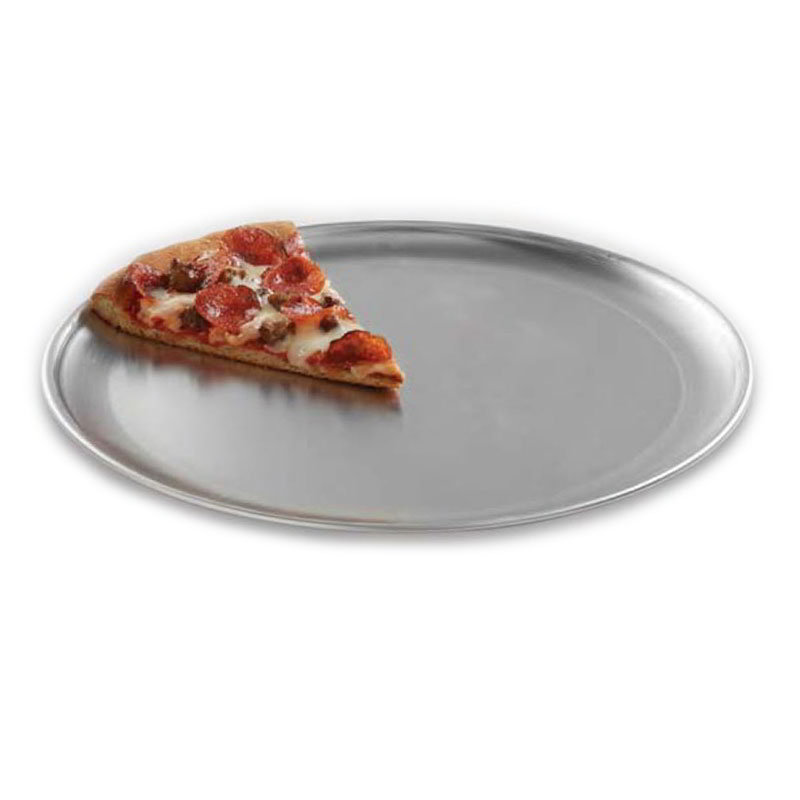 "American Metalcraft CTP8 8"" Solid Pizza Pan, Coupe Style, Aluminum"