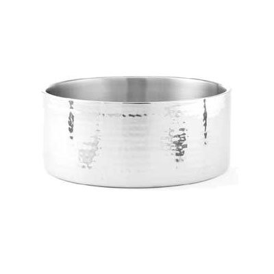 "American Metalcraft DWBH10 10"" Round Bowl w/ 156-oz Capacity, Hammered, Stainless"