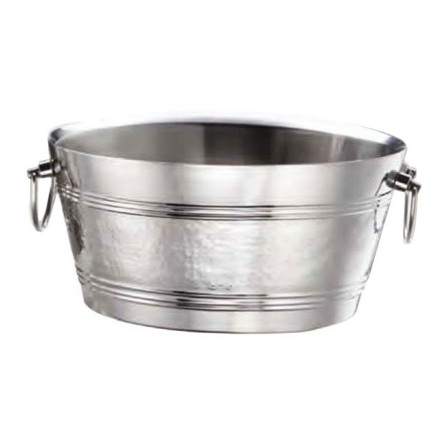 "American Metalcraft DWBT15 15"" Party Tub w/ 495-oz Capacity & Swing Handle, Mirror, Stainless"