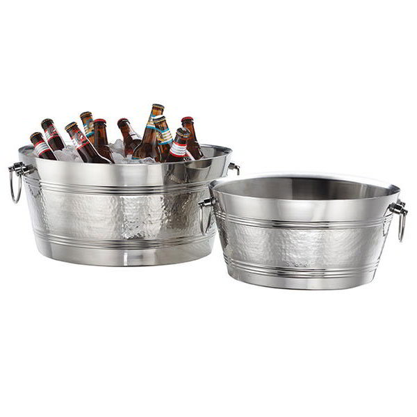 "American Metalcraft DWBT185 19"" Party Tub w/ 940-oz Capacity & Swing Handle, Mirror, Stainless"