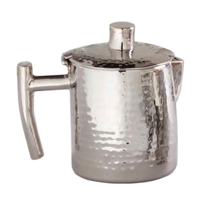American Metalcraft DWHMCP16 Coffee Pot w/ 16-oz Capacity & Hinged Lid, Hammered, Stainless
