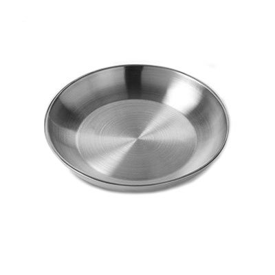 "American Metalcraft DWSEA14 14"" Round Seafood Tray - Stainless"