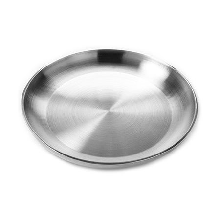 "American Metalcraft DWSEA18 17-5/8"" Round Seafood Tray - Stainless"