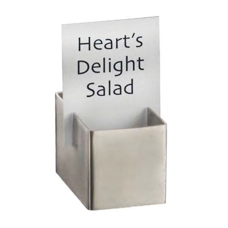 American Metalcraft DXCH2 Card Holder, 1.75x1.12-in, Stainless