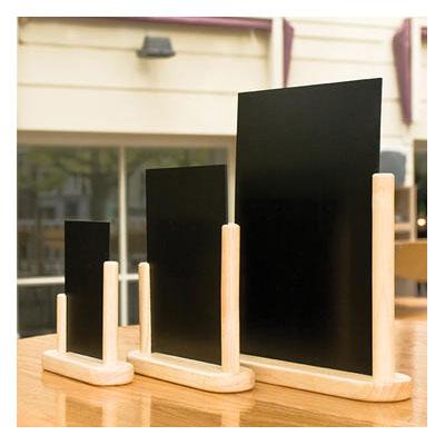 """American Metalcraft ELEBSM Table Top Board w/ Removable Blackboard, 4x6"""", Wood"""