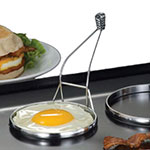 "American Metalcraft ER333 3.12"" Egg Ring w/ Handle, Chrome"