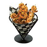 "American Metalcraft FBB7 7"" Conical Bread Basket, Wrought Iron/Black"