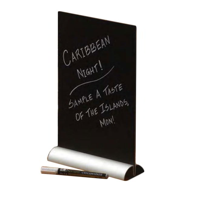"American Metalcraft FBTAA4 Tabletop Board w/ Aluminum Base, 8.5"" x 11"", Black Surface"