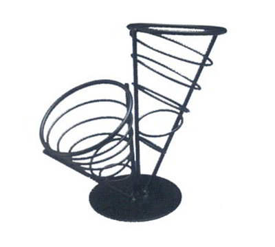American Metalcraft FCB22 Ironworks French Fry Basket, 2-Cone, 10 1/2 in x 9 1/2 in H, Black