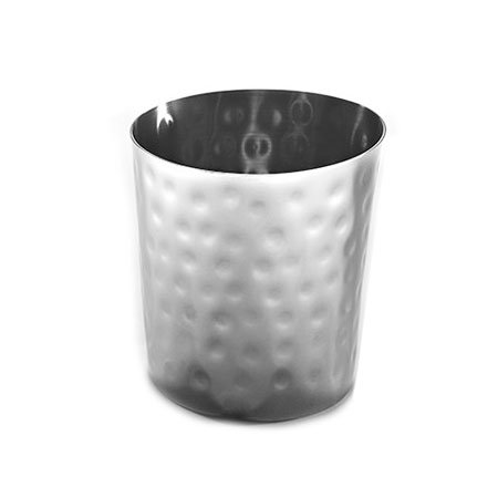American Metalcraft FFHM35 26-oz Round French Fry Cup - Hammered-Finish Stainless