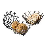 American Metalcraft FRUB12 8-in Thatch Basket, Black
