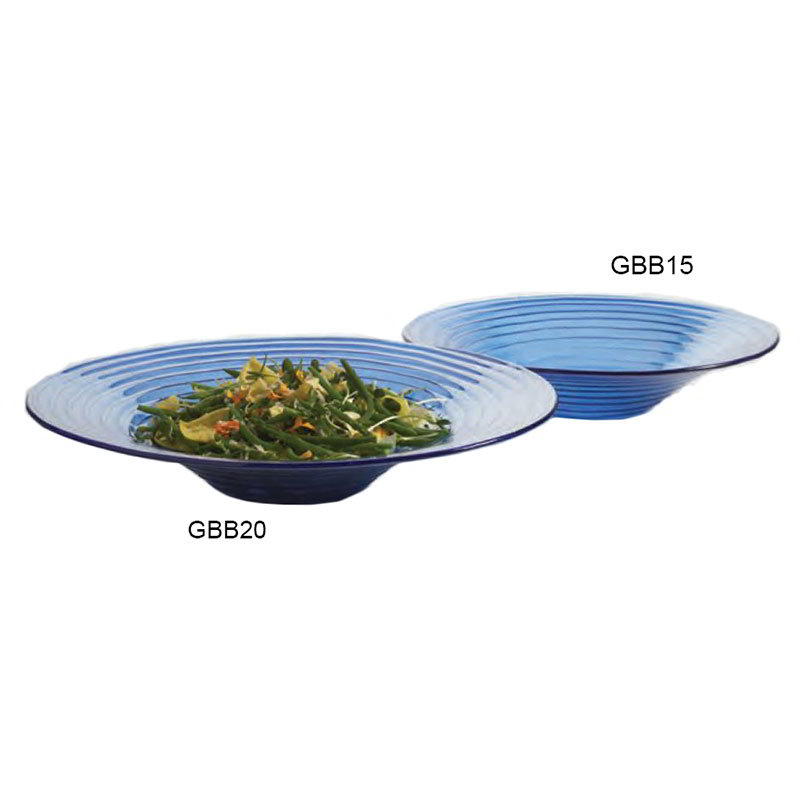 American Metalcraft GBB15 15-in Bowl, Blue/Glass