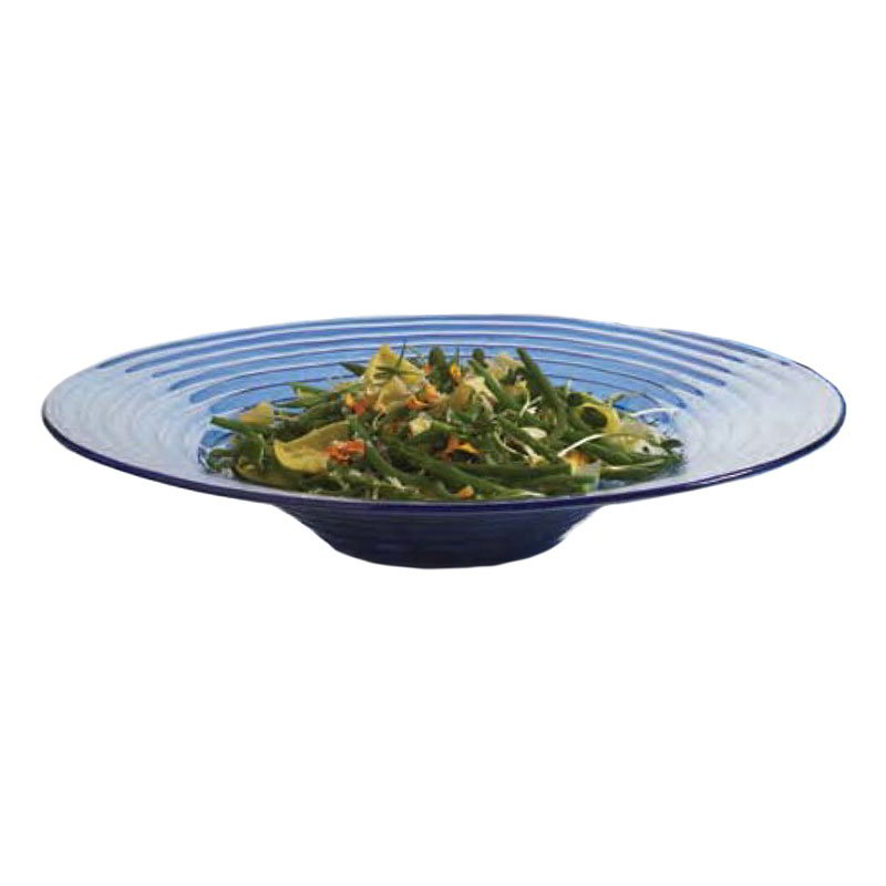 "American Metalcraft GBB20 18.5"" Bowl, Blue/Glass"