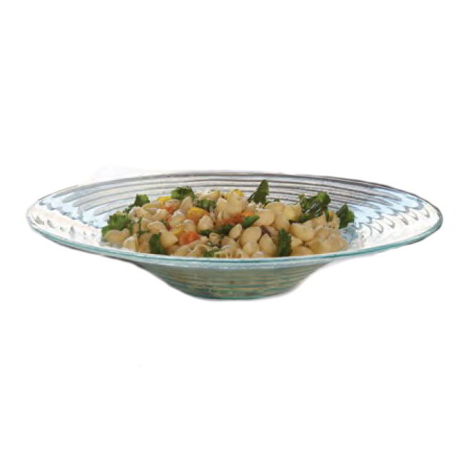 American Metalcraft GBG19 19-in Recycled Bowl, Green/Glass
