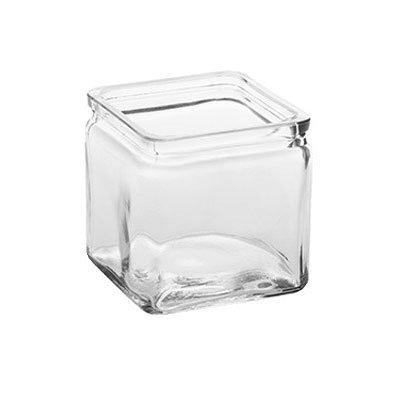 American Metalcraft GJ24 24-oz Square Glass Jar