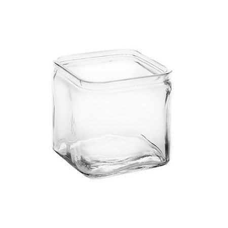 American Metalcraft GJ40 40-oz Square Glass Jar