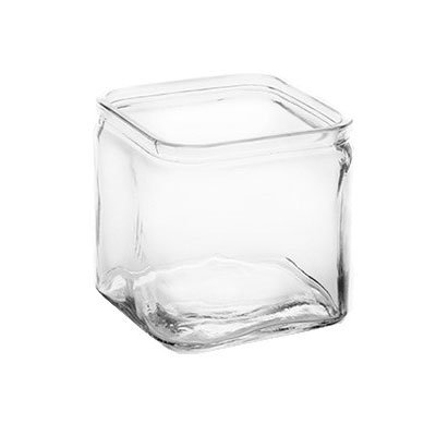American Metalcraft GJ6 6-oz Square Glass Jar