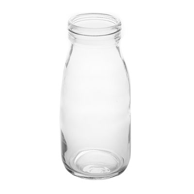 American Metalcraft GMB6 6-oz Glass Milk Bottle - Clear
