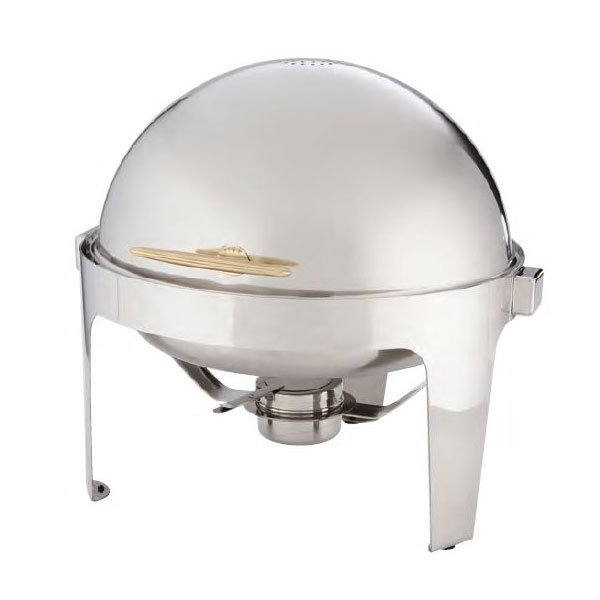 American Metalcraft GOLDAGRD18 Round Chafer w/ 7-qt Capacity, Stainless/Gold