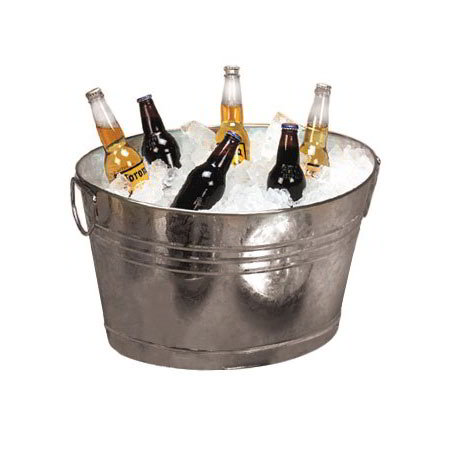 American Metalcraft GPTUB20 Tub w/ Side Handle, Galvanized