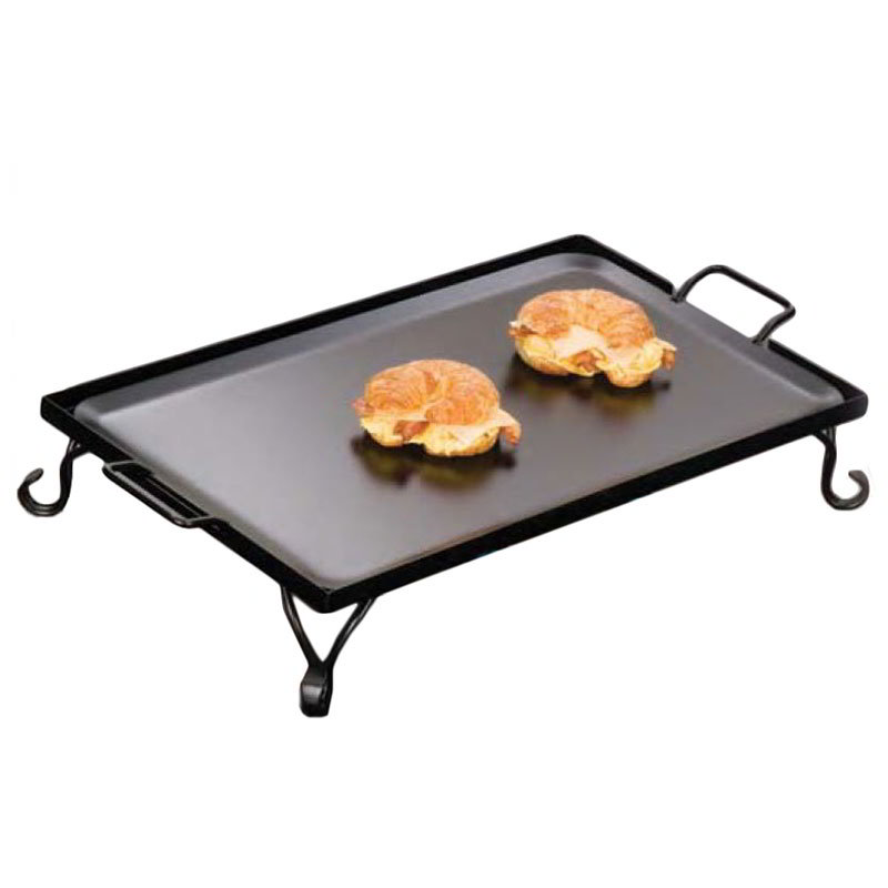 American Metalcraft GS27 27-in Griddle w/ Stand, Wrought Iron/Black