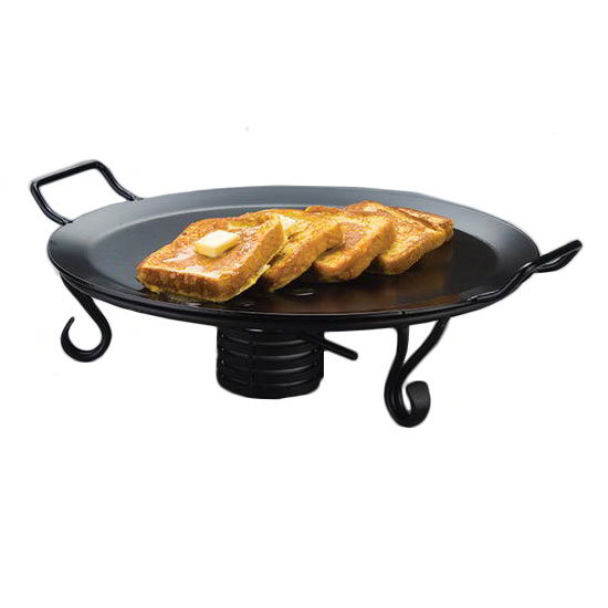 "American Metalcraft GS81 18"" Round Buffet Griddle, Wrought Iron/Black"