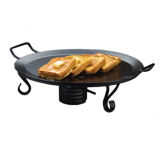"American Metalcraft GSS17 17"" Griddle Stand, Wrought Iron"
