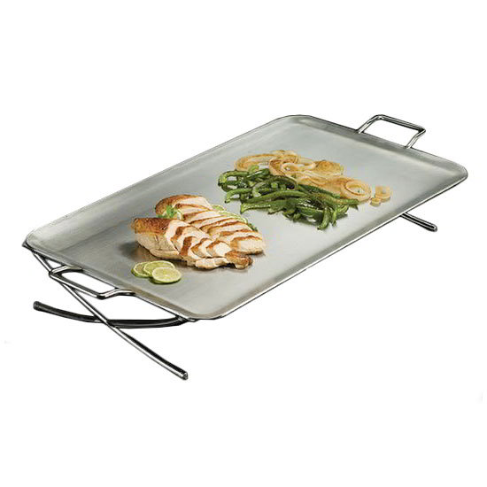 "American Metalcraft GSSS1526 26.5"" Rectangular Griddle w/ Handle, Stainless"