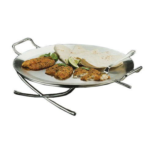 "American Metalcraft GSSS20 17"" Round Griddle Stand, Stainless"