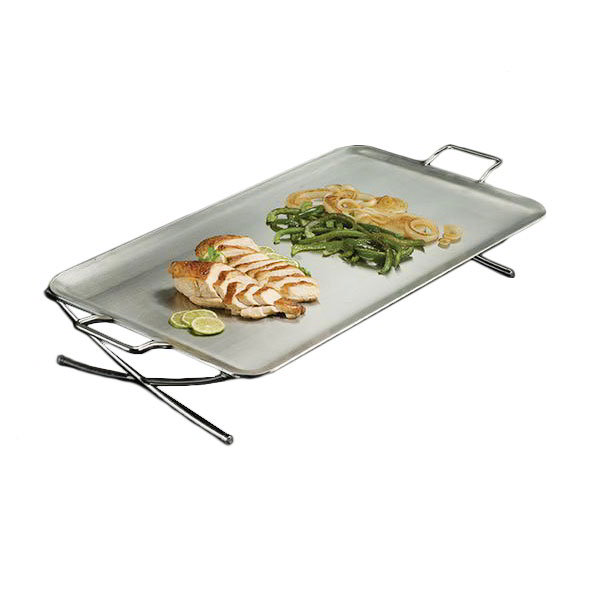 "American Metalcraft GSST2514 25"" Rectangular Griddle Stand, Stainless"