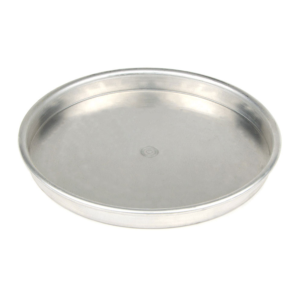 "American Metalcraft HA4013 13"" Straight Sided Pizza Pan, 1"" Deep, Aluminum"