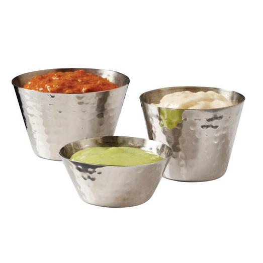 "American Metalcraft HAMSC 2.12"" Sauce Cup w/ 2-oz Capacity, Hammered, Stainless"
